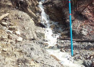 Le Frachey VD: Fels- und Murgangüberwachung