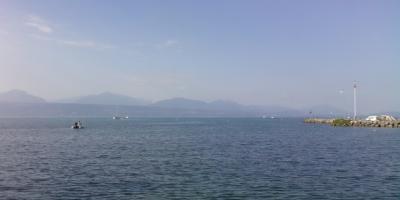 Mesure bathymétrique du lac Léman par ADCP