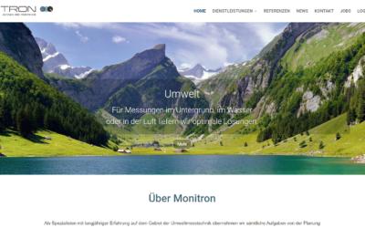 Die neue Website von Monitron ist online!