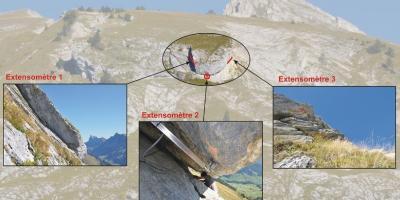 Felsmonitoring einer instabilen Felspartie mit Extensometer