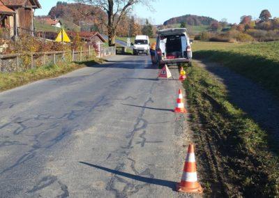 Carottages pour analyses HAP, Route de Lussy